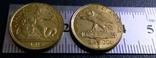 2 1/2 долар золотом 1915  року США копія золотої  не магнітна, дзвенить, фото №3