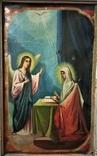 Икона Св.Ах.Гавриил и Матерь Божья. Холст.Размер 750х500 мм, фото №3