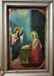 Икона Св.Ах.Гавриил и Матерь Божья. Холст.Размер 750х500 мм, фото №7
