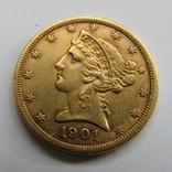 5 долларов 1901 г. США, фото №4