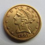 5 долларов 1901 г. США, фото №6