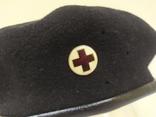 Берет со знаком Красный Крест. Шерсть. 56-57 рр, фото №3