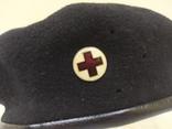Берет со знаком Красный Крест. Шерсть. 56-57 рр, фото №4