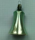 Елочная игрушка Колокольчик зеленый СССР 1959 г., фото №2