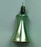 Елочная игрушка Колокольчик зеленый СССР 1959 г., фото №3