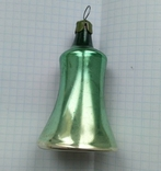 Елочная игрушка Колокольчик зеленый СССР 1959 г., фото №5