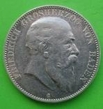 1904 год, 5 марок, Баден., фото №3