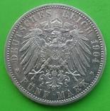 1904 год, 5 марок, Баден., фото №4