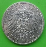5 марок, Пруссия, 1913 год., фото №3
