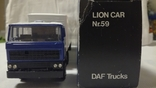 Тягач, Грузовик Lion Car 1/50 Scale No.36 - DAF Truck Trailer - Blue Band, Holland, фото №6