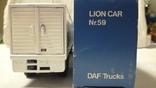 Тягач, Грузовик Lion Car 1/50 Scale No.36 - DAF Truck Trailer - Blue Band, Holland, фото №7