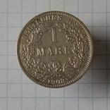 """1 марка 1908г """"А"""" Германия серебро, фото №2"""
