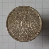"""1 марка 1908г """"А"""" Германия серебро, фото №3"""