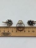 Серьги и Кольцо перстень Серебро -925 проба Вес -12 грамм, фото №6