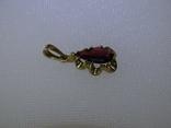 Винтажный кулон-подвеска. Золото, гранат., фото №3