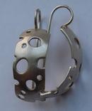 Крупные серьги и кольцо серебро 925 17,2 грм, фото №6