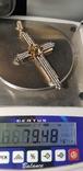 Крест золото 585 проба., фото №3