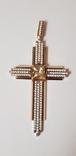 Крест золото 585 проба., фото №2
