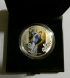Архангел Гавриил - серебро 999, 1/2 унции - цветная - сертификат и футляр, фото №2