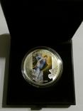 Архангел Гавриил - серебро 999, 1/2 унции - цветная - сертификат и футляр, фото №4