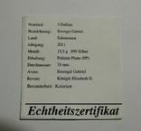 Архангел Гавриил - серебро 999, 1/2 унции - цветная - сертификат и футляр, фото №5