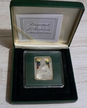 Художники Мира - Леонардо да Винчи - МОНА ЛИЗА - серебро. Футляр, сертификат, фото №4
