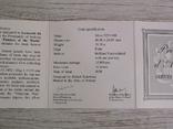 Художники Мира - Леонардо да Винчи - МОНА ЛИЗА - серебро. Футляр, сертификат, фото №5