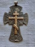 Серебряный крест с золотой накладкой., фото №2