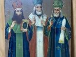 Икона Иоан Златоуст Василий Великий Григорий Богослов, фото №4