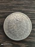 5 марок Германия Вюртемберг 1875г., фото №4