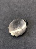 Старынный серебряный кулон с янтарем, надпись Norma Magrethe ( серебро 830 пр, вес 6,4 гр), фото №5