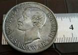 50 центів 1900 року Саравак /о.Борнео Великої Британії /посрібнення-копія/, фото №2