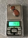 Серебряный кулон с авантюрином (серебро 925 пр, вес 14,1 гр), фото №5