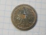 Польская пуговица с остатками посеребрения, фото №4