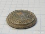 Польская пуговица с остатками посеребрения, фото №5