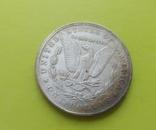 1 доллар 1882 г. O Morgan США (копія), фото №3
