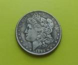 1 доллар 1884 г. S Morgan США (копія), фото №2