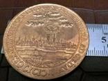 10 дукатів  золотом1665 року , Польща ,  копія золотої не магнітний, позолота 999, фото №2