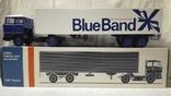 Тягач, Грузовик Lion Car 1/50 Scale No.36 - DAF Truck Trailer - Blue Band, Holland (2), фото №3