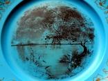 Старинная тарелка из колкого пластика, фото №4