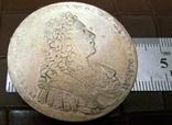 1 рубль 1737року . Супер - Копія, не магнітна, посрібнення 999, фото №2