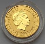 Австралія 15 доларів Рік Собаки 2006 рік Золото 3,11 грам 999,9' проби, фото №5
