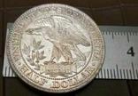 1/2 долара  1877 року США /репліка/ копія,посрібнення 999,, фото №2