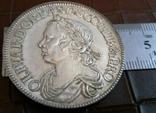 Монета Англії 1658 рокуточна копія срібної /посрібнення 999/ не магнітна, фото №2