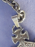 Кошелёк-кольчужка с религиозным медальоном к шатлену, серебро, 46 грамм, Франция, фото №5