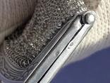 Кошелёк-кольчужка с религиозным медальоном к шатлену, серебро, 46 грамм, Франция, фото №10