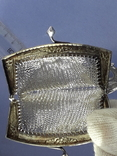 Кошелёк-кольчужка с религиозным медальоном к шатлену, серебро, 46 грамм, Франция, фото №11
