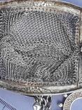 Кошелёк-кольчужка с религиозным медальоном к шатлену, серебро, 46 грамм, Франция, фото №12
