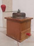 Кофемолка коллекционная рабочая дерево металл клеймо Германия, фото №4