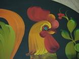Большая настенная тарелка папье маше. Авторская роспись. Диаметр 30 см., фото №3